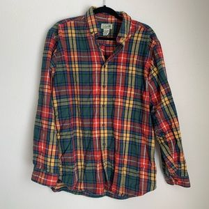 L.L. Bean flannel plaid button down shirt